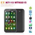 "ET N7115 - Смартфон, Android 4.1, MTK6515 1.0GHz, Dual SIM, 5.3"", 256MB RAM, 128MB ROM, GSM, Wi-Fi, Bluetooth, основная камера 8.0Mp"