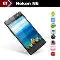 "Neken N6 - смартфон, Android 4.2, MTK6589T Quad Core 1.5GHz, 5.0"" IPS 1080Р, 2 SIM-карты, 1ГБ RAM, 16ГБ ROM, поддержка карт microSD, WCDMA/GSM, Wi-Fi, Bluetooth, GPS, FM-радио, основная камера 13МП и фронтальная камера 5МП"