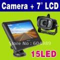 """N107 - автомобильный монитор, 7"""" TFT LCD дисплей + камера"""