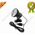 Светодиодная клипса Super Bright 3 для чтения книг, USB, LED