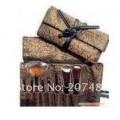 Набор кистей (8шт) для макияжа в кожаном чехле