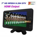 "JWELL DVT-712HD - телевизор, TFT LCD, 7"", 720P, USB, MPEG-4 H.264"