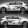 Виниловые наклейки с изображением диких животных, для кузова автомобиля