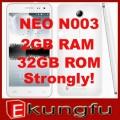 "Neo N003 - смартфон, 2 SIM-карты, Android 4.2, 5"" FullHD IPS Corelle Gorilla Glass, MTK6589 (4 х 1.2ГГц), 1/2ГБ RAM, 8/32ГБ ROM, поддержка карт TF, 3G, Wi-Fi, GPS, Bluetooth, FM-радио, основная камера 13МП и фронтальная камера 3МП"