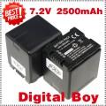 VW-VBN260 - 2 аккумулятора Li-ion 2500 мАч для Panasonic HDC-HS900 HDC-Tm900