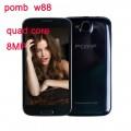 "POMP W88 - смартфон, Android 4.2, MTK6589 Quad Core 1.2GHz, 5.0"" QHD, 2 SIM-карты, 1ГБ RAM, 4ГБ ROM, поддержка карт microSD, WCDMA/GSM, Wi-Fi, Bluetooth, GPS, FM-радио, основная камера 8МП и фронтальная камера 3МП"