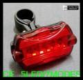 Задний габаритный фонарь для велосипеда светодиодный, 7 режимов работы, влагозащитное исполнение
