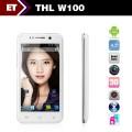 """THL W100 - смартфон, Android 4.2, MTK6589 Quad Core 1.2GHz, 4.5""""  IPS 720Р, 2 SIM-карты, 1ГБ RAM, 4ГБ ROM, поддержка карт microSD, WCDMA/GSM, Wi-Fi, Bluetooth, GPS, FM-радио, основная камера 8МП и фронтальная камера 5МП"""