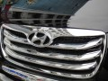 Хромированные накладки решетки радиатора для Hyundai Santa Fe 2010-2012, 4шт