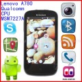 "Lenovo LePhone A780 - смартфон, Android 2.3.6, Qualcomm Snapdragon MSM7227A (1GHz), 4"" TFT LCD, 512MB RAM, 4GB ROM, 3G, Wi-Fi, Bluetooth, GPS, 3.2MP задняя камера"