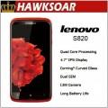 "Lenovo S820 - смартфон, Android 4.2, mt6589 Quad Core, 4.7"" IPS 720Р, 2 SIM-карты, 1ГБ RAM, 4ГБ ROM, поддержка карт microSD, WCDMA/GSM, Wi-Fi, Bluetooth, GPS, FM-радио, основная камера 13МП и фронтальная камера 2МП"