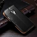 Кожаный чехол для Samsung Galaxy S3 Mini с отделением для пластиковых карт и купюр, и подставкой