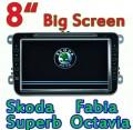 "HotAudio CS-9523 - автомобильная магнитола, 8"" TFT LCD, Touch Screen, GPS, WinCE 6.0, Bluetooth, MP3/MP4, SD/USB, CD/DVD, FM/TV для Skoda Fabia/Superb/Octavia"