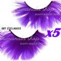 Фиолетовые ресницы, 5 пар