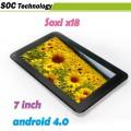 "Soxi X18 - планшетный компьютер, Android 4.0.3, 7"" TFT LCD, All Winner A13 (1.2GHz), 512MB RAM, 4GB ROM, Wi-Fi, HDMI, 0.3MP фронтальная камера"