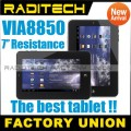 "VIA 8850 - планшетный компьютер, Android 4.0.3, TFT LCD 7"", 1.5GHz, 512MB RAM, 4GB ROM, Wi-Fi, HDMI, 1.3MP фронтальная камера"