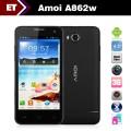 "Amoi A862W - Смартфон, Android 4.1, MSM8225Q Quad Core 1.2GHz, 4.5"", Dual SIM, 1GB RAM, 4GB ROM, GSM, 3G, GPS, FM, Wi-Fi, основная камера 5.0Mpix"