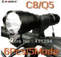 Передний фонарь для велосипеда + зарядное устройство для аккумуляторов + кронштейн