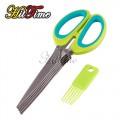 Ножницы с 5 лезвиями для резки бумаги или продуктов