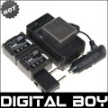 VW-VBG130 - 3 аккумулятора Li-ion для Panasonic SDR-H80 HDC-DX5 HDC-TM20