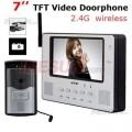 Беспроводной видео-телефон двери - 7.0 дюймовый ЖК дисплей, ИК CMOS камера, запись фото, запись видео, 2G память