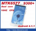 "Hero H9300+ - смартфон, Android 4.1.1, MTK6577 (2x1GHz), qHD 5.3"" TFT LCD, 512MB RAM, 4GB ROM, 3G, Wi-Fi, Bluetooth, GPS, 8MP задняя камера, 2MP фронтальная камера"