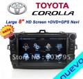 "Nuevo ND-1040 - автомобильная магнитола , 8"" TFT LCD, Touch Screen, GPS, WinCE 6.0, 600MHz, 128MB RAM, MP3/MP4, DVD/CD, SD/USB, TV/FM, Bluetooth для Toyota Corolla (2006-2011)"