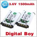 NP-BX1 - 2 аккумулятора Li-ion 1500 мАч для Sony DSC-RX100 RX100 HDR-AS15