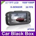 """AT850 - автомобильный видеорегистратор, G-датчик, Full HD 1920x1080p 30 кадров/с, 2.7"""" ЖК дисплей, HDMI, 4 x цифровое масштабирование, линзы 148 градусов"""
