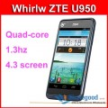 "ZTE U950 - смартфон, Android 4.0.4, Nvidia Tegra 3 (4x1.3GHz), qHD 4"" IPS, 1GB RAM, 4GB ROM, 3G, Wi-Fi, Bluetooth, GPS, 5MP задняя камера, 0.3MP фронтальная камера"