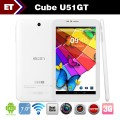 "Cube U51GT Talk 7 - Планшетный компьютер, Android 4.2, MTK8312 Dual Core 1.3GHz, 7"", 1GB RAM, 4GB ROM, GSM, 3G, GPS Bluetooth FM, основная камера 2.0Mpix"