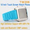 """TW206 - часы-мобильный телефон, 1.6"""", FM, Bluetooth, камера 1.3МП"""