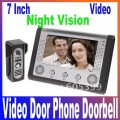 Цифровой дверной видеозвонок – 7-дюймовый дисплей, камера, с функцией ночного видения