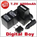 NP-FH100 - 3 аккумулятора + зарядное устройство + автомобильное зарядное устройство + штекер для Sony SR HC DVD