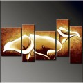 Современная абстрактная живопись маслом на холсте, группа из 5 картин (DY-001)