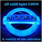 Светящийся логотип Nissan 4d, led, несколько цветов