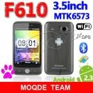 "F610 - смартфон, Android 2.3.6, MTK6573 (650MHz), 3.5"" TFT LCD, 256MB RAM, 256MB ROM, 3G, Wi-Fi, Bluetooth, GPS, FM, 2MP камера"