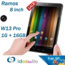 "Ramos W13 Pro - планшетный компьютер, Android 4.0.3, 8"" TFT LCD, Amlogic AML8726-MX (1.2GHz), 1GB RAM, 8GB ROM, HDMI, Wi-Fi, 0.3MP фронтальная камера, 2MP задняя камера"