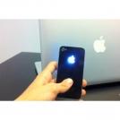 Задняя панель  для Iphone  4/4S с подсветкой логотипа