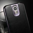 Кожаный чехол для Samsung Galaxy S4 с жесткой хромированной окантовкой, 3 вида