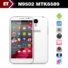 "Changjiang N9502 - смартфон, Android 4.2, MTK6589T, Quad Core 1.2GHz, 5.0"" IPS 720Р, 2 SIM-карты, 1ГБ RAM, 16ГБ ROM, поддержка карт microSD, WCDMA/GSM, Wi-Fi, Bluetooth, GPS, FM-радио, основная камера 12.1МП и фронтальная камера 0.3МП"