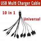 10 в 1 универсальное USB -мультизарядное устройство кабельное для мобильных телефонов