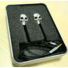 Проводные металлические наушники 3.5mm в форме черепа