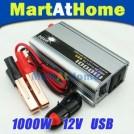 Автомобильный инвертер постоянного тока, 220V, USB, 12V, 1000W
