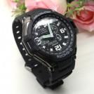 """Спортивные мужские часы модель """"Авиатор"""", LED, черный корпус"""