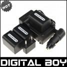 DCR-HC24E - 3 аккумулятора для Sony DCR-HC24E DCR-DVD305E