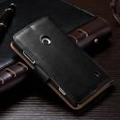 Кожаный чехол для Nokia Lumia 520 с отделением для пластиковых карт и купюр, и подставкой, натуральная кожа