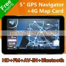 "SD-G501 - Автомобильный GPS навигатор, 5"" 800*480, Bluetooth, AV-IN, FM, 4GB"