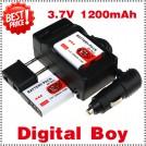 NP-BG1 - 2 аккумулятора + зарядное устройство + автомобильное зарядное устройство + штекер для Sony DSC-W170 DSC-W215