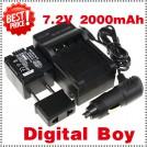 CGA-DU14 - 3 аккумулятора + зарядное устройство + автомобильное зарядное устройство для Panasonic DU06 DU07 NV-GS10